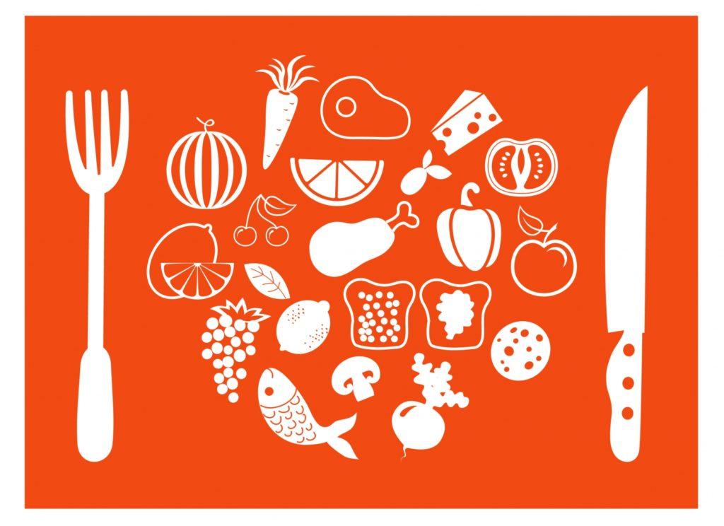 food white orange graphic